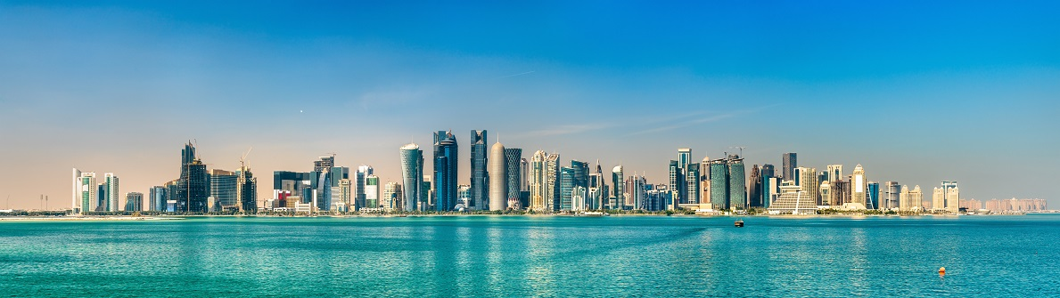 Panorama von Doha