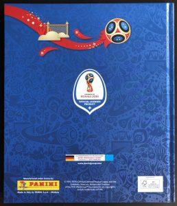 Panini Sammelalbum WM 2018 (hinten)