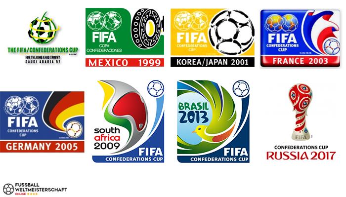 Confed Cup Logos 1997 bis 2017