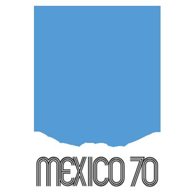 Fußball-WM Logo von 1970 (Mexiko)