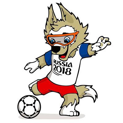 """Das WM-Maskottchen von 2018 """"Zabivaka"""""""